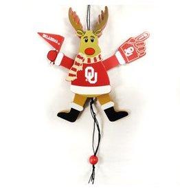 Topperscott OU Reindeer Fan Ornament