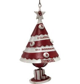 Topperscott OU Christmas Tree Bell Ornament