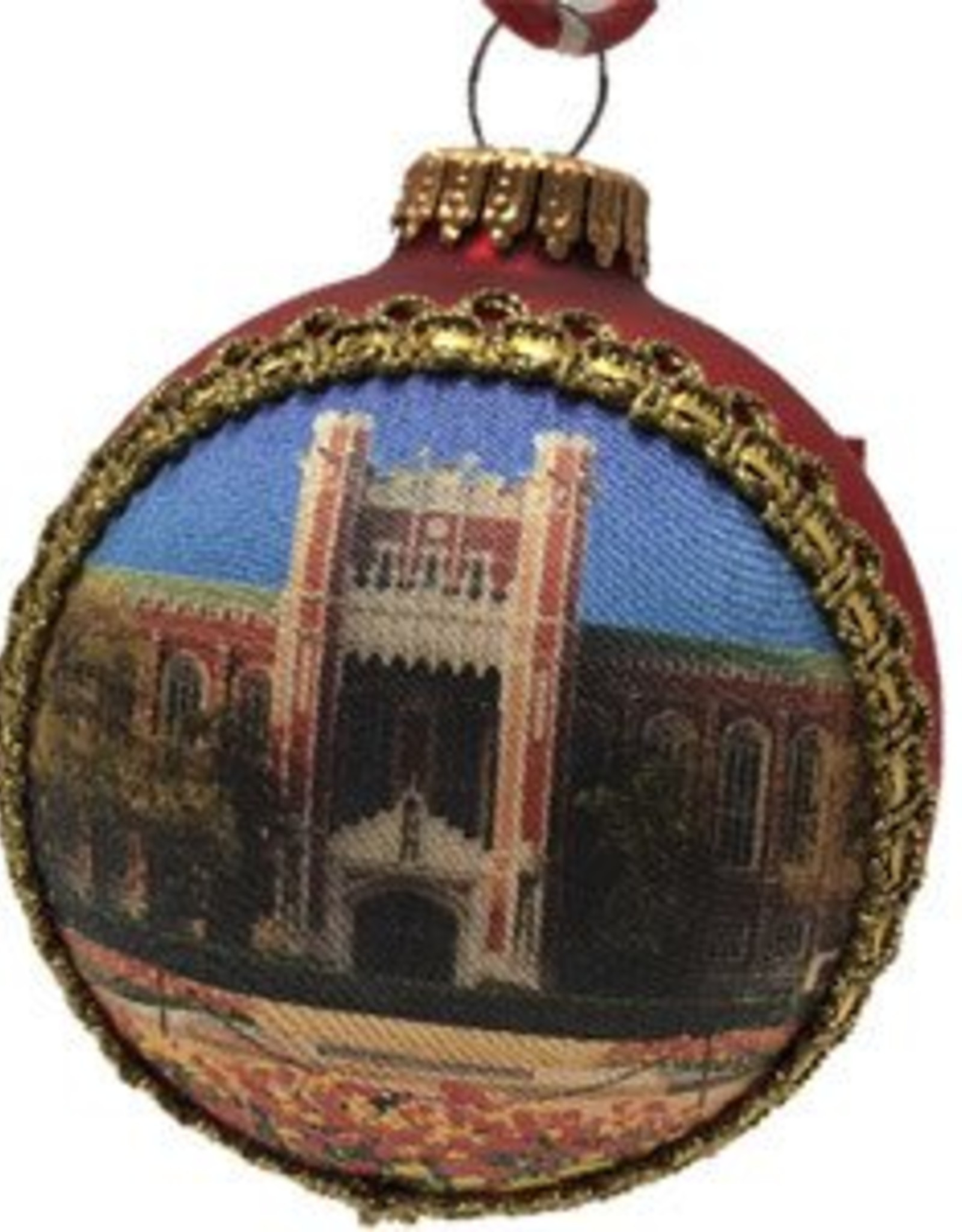 RFSJ OU Library Glass Ornament