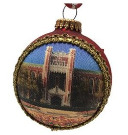 RFSJ OU Library Glass Ornament