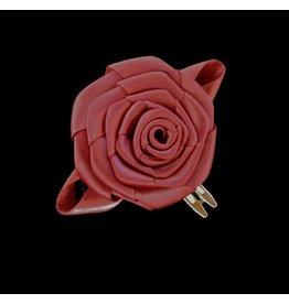 Divine Creations Dark Crimson Rose Hair Clip