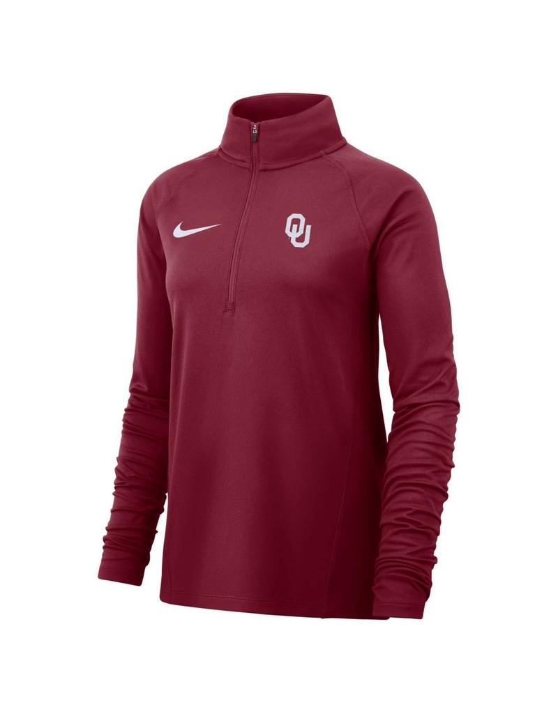 91340f045ec7 Women s OU Nike Core Half-Zip Running Top - Balfour of Norman