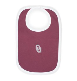 Two Feet Ahead Crimson OU Knit Bib