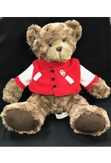 Mascot Factory OU Charlie Bear w/ Varsity Jacket