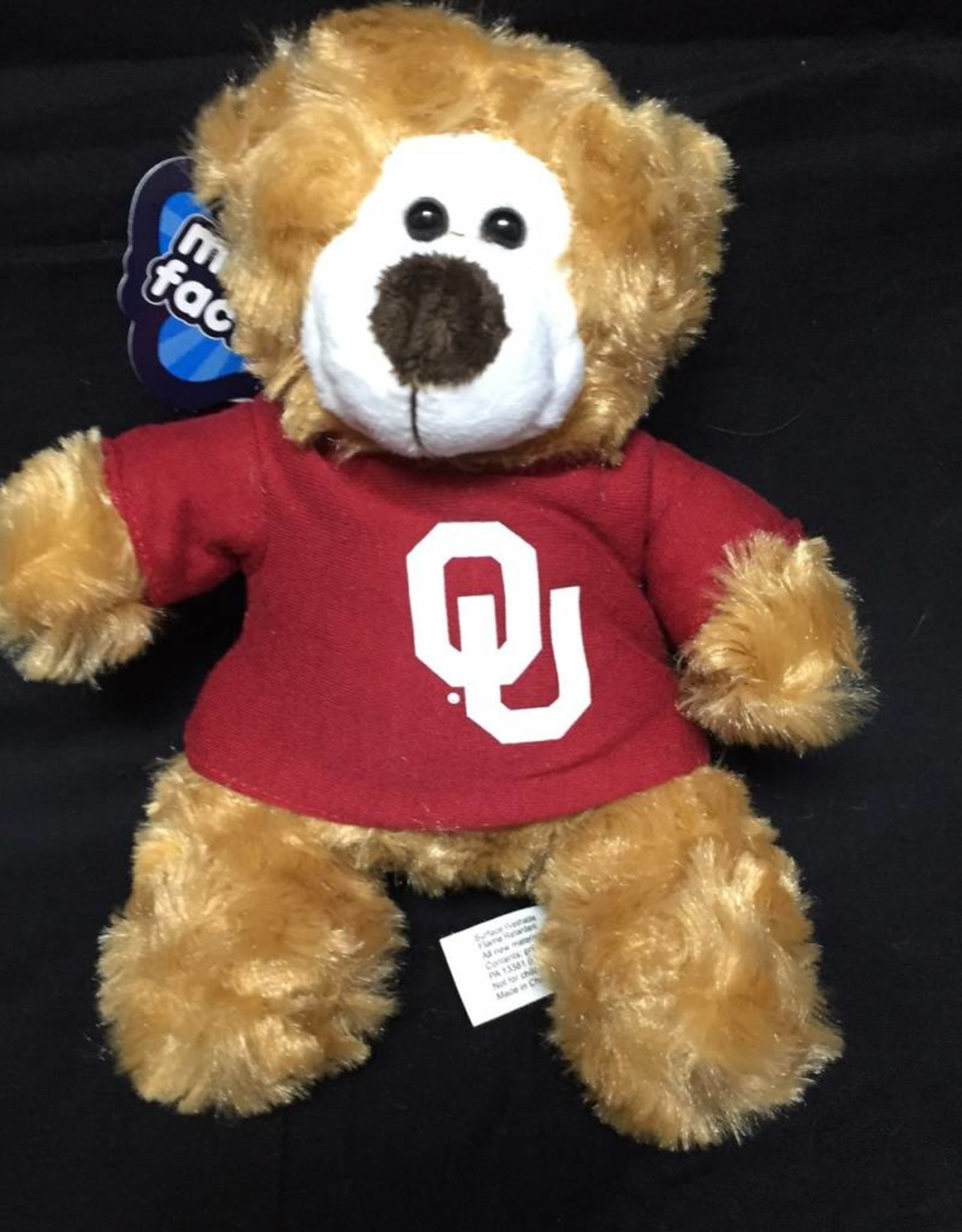 """Mascot Factory OU Small Color Me Bear w/ Tee Brown 6"""""""