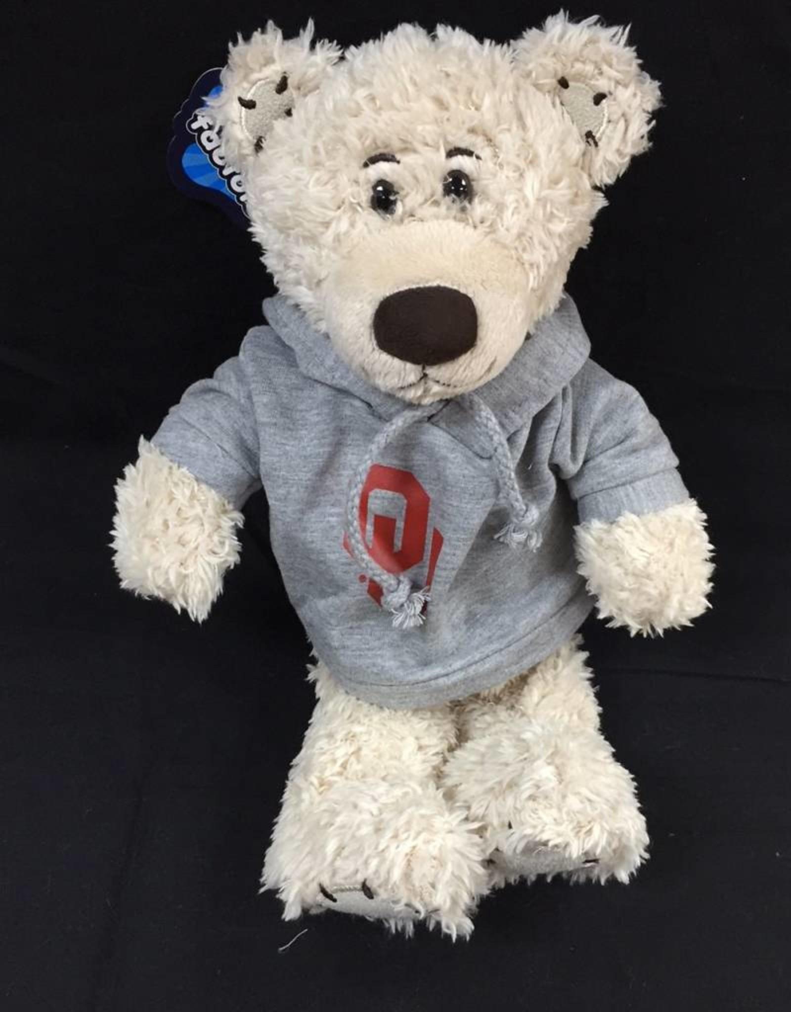 "Mascot Factory OU Stitchez Bear w/ Hoody Cream 8"""