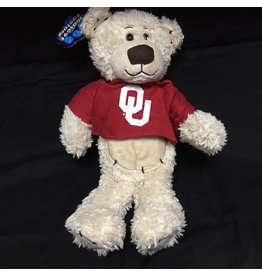 Mascot Factory OU Stitchez Bear w/ T-Shirt Cream 8""