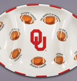 Magnolia Lane Magnolia Lane 3-Section Football Platter