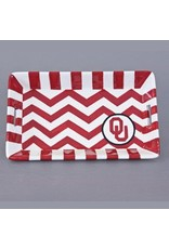 Magnolia Lane Magnolia Lane OU Ceramic Mini Chevron Tray