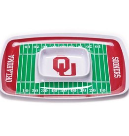 BSI OU Football Field Durable Melamine Chip & Dip Tray