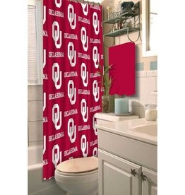 "Northwest OU Oklahoma Fabric Shower Curtain 72""x72"""