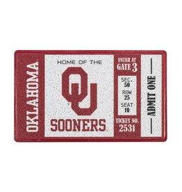 Team Sports America OU Sooners Ticket Turf Door Mat