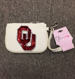 Spirit Products OU Sequins & Beads Wristlet