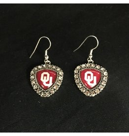 FTH FTH OU Crystal Shield Earring