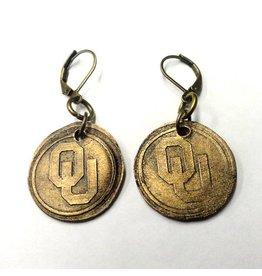 Legacy Bronze OU Earrings
