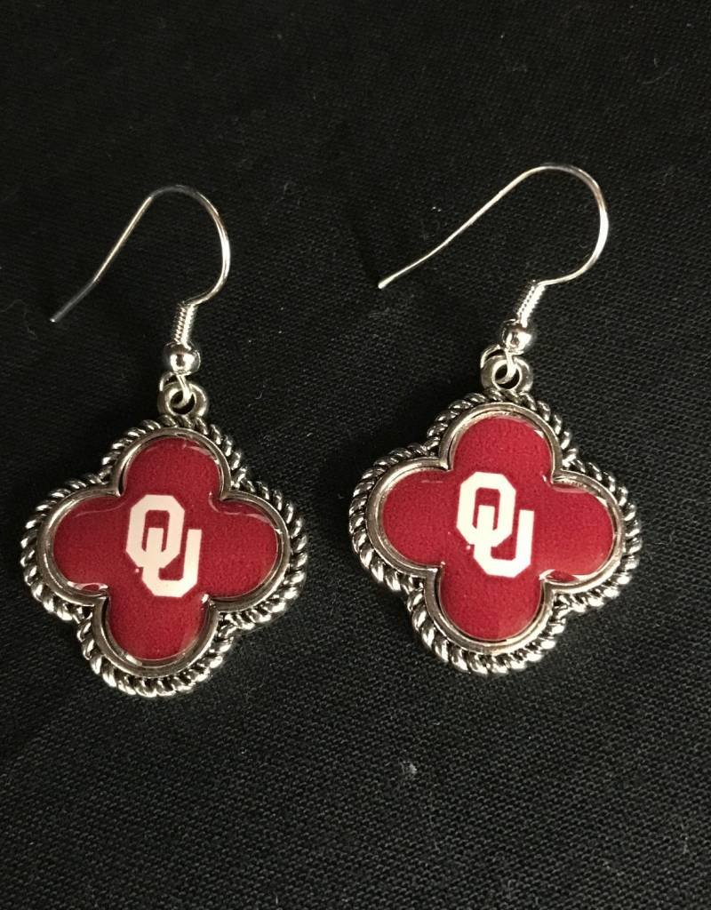 FTH FTH OU Quatrefoil Earrings