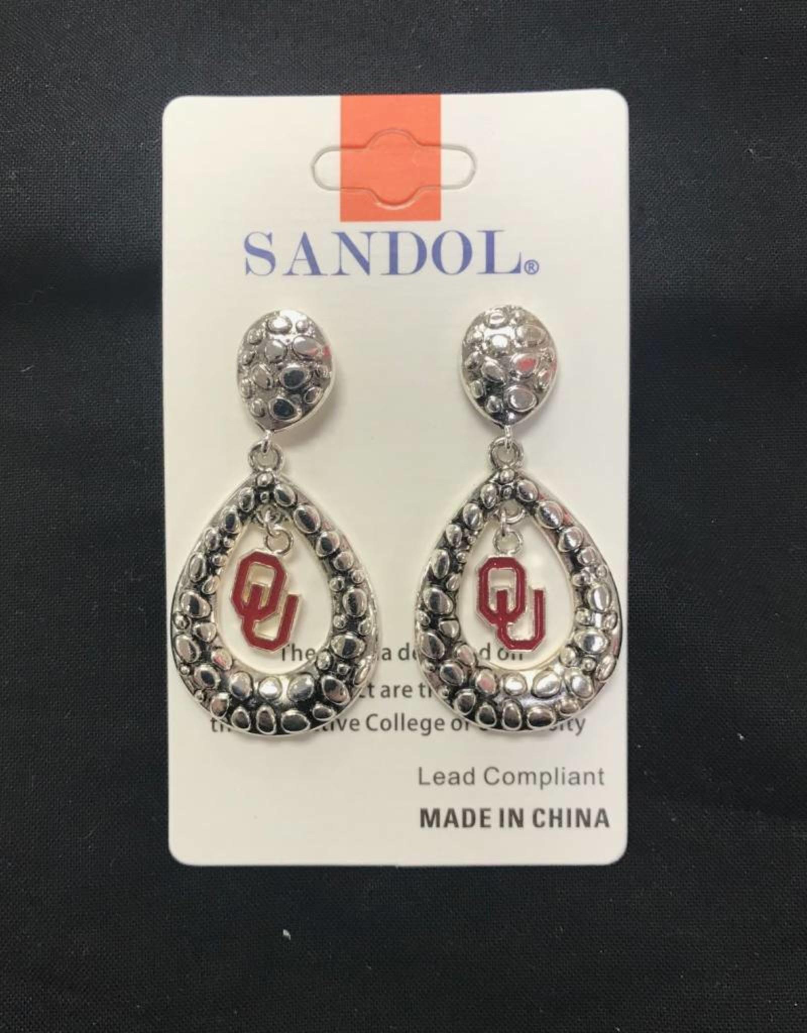 Sandol Sandol Teardrop OU Silvertone Earrings