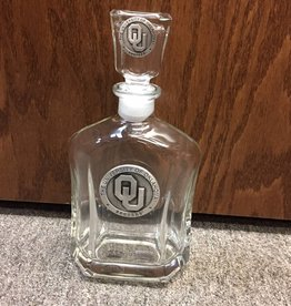 Heritage Pewter OU Pewter Emblem Whiskey Decanter