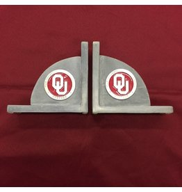 Heritage Pewter Crimson & Pewter Emblem Heavy Metal Bookends