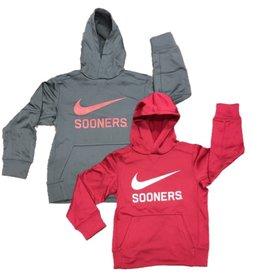 Nike Youth Nike Dri-Fit Swoosh Sooners Pull Over Hoodie