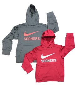 Nike Youth Nike Dri-Fit Swoosh Sooners Pull Over Hoodie
