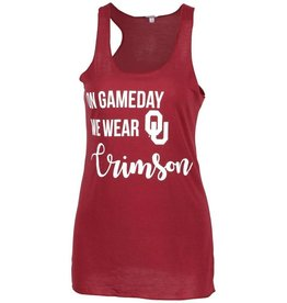ZooZatz Women's Run Gameday Wear Crimson Tank