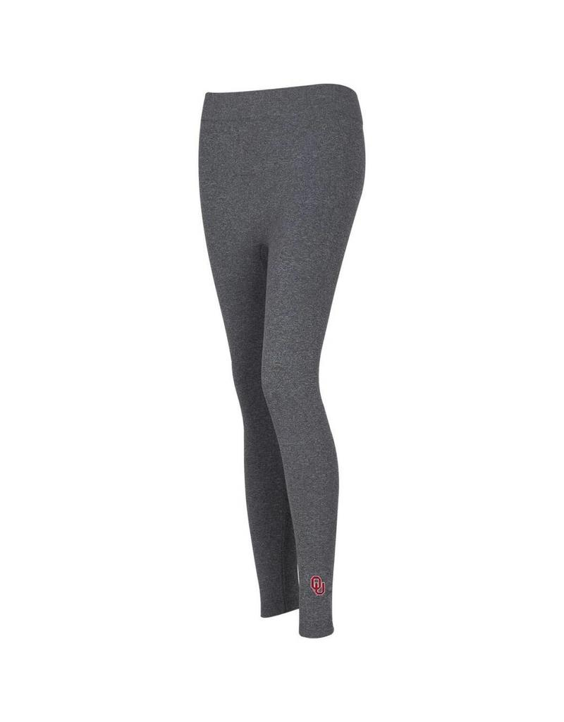 ZooZatz Embroidered OU Fleece Leggings-Grey