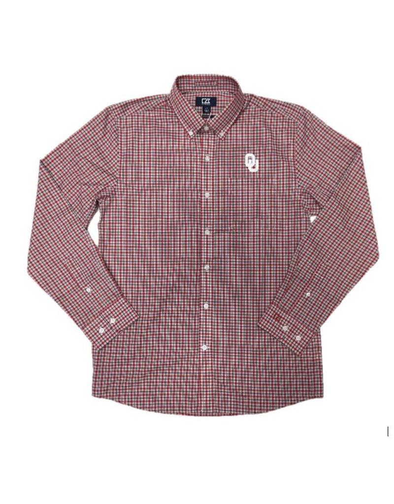 Cutter & Buck Men's Cutter & Buck Lakewood Check LS Dress Shirt