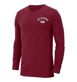 Nike Men's Nike Heavy LS Tee-Crimson