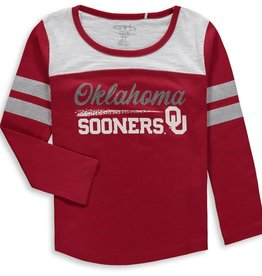Garb Toddler Garb Paige OU Glitter Oklahoma Sooner LS Tee