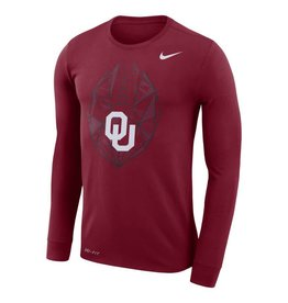 Nike Men's Nike Dri-Fit Cotton LS Icon Tee Crimson