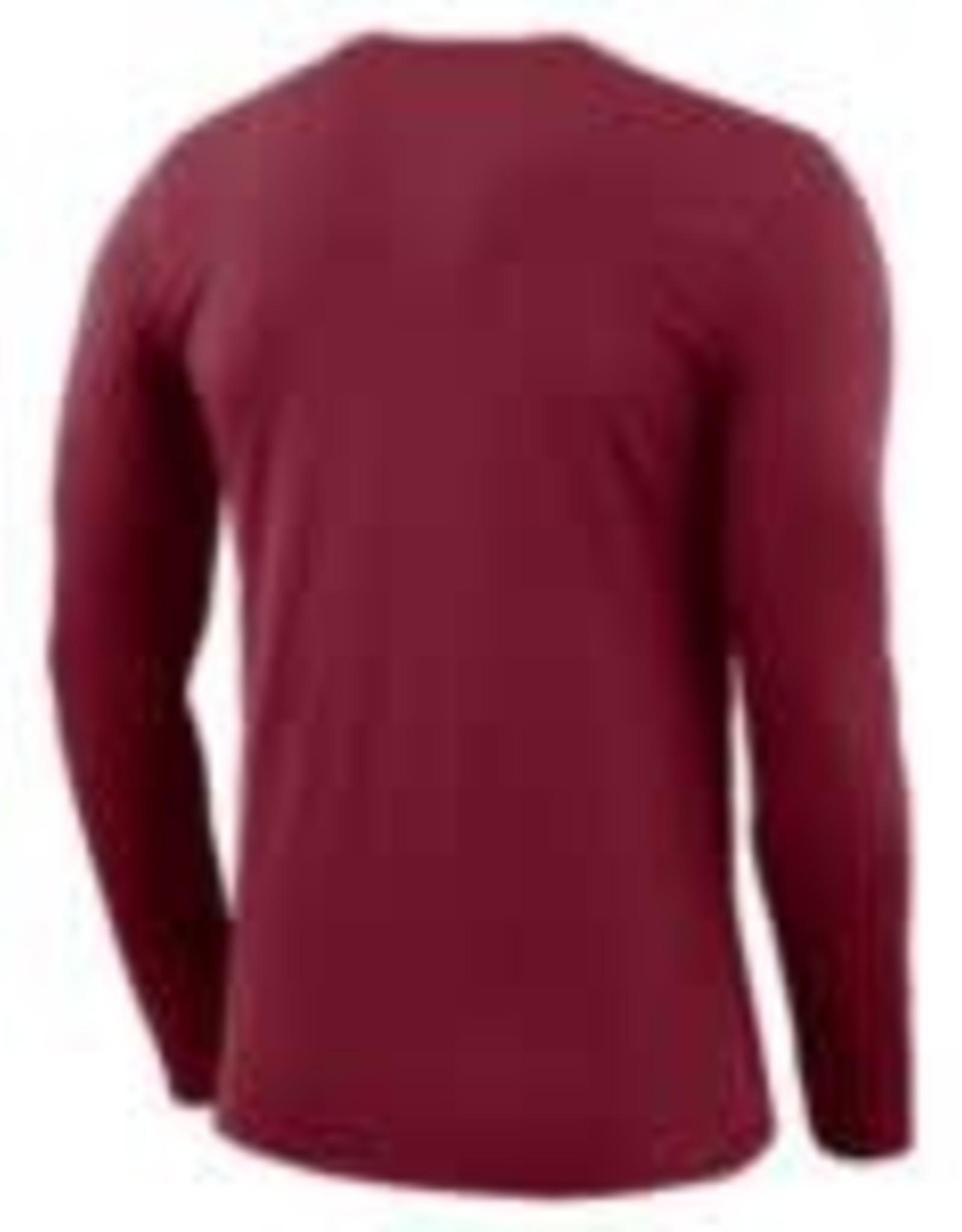 Nike Men's Nike Dri-Fit Cotton LS Icon Tee Crimson