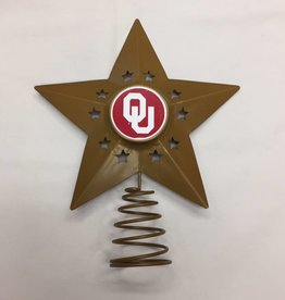 Topperscott OU Metal Christmas Tree Topper