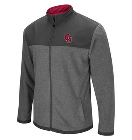 Colosseum Men's Colosseum Grey Fleece Full Zip Jacket