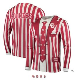 23d0e93c9 Faux Real Faux Real Oklahoma Sooners Striped Suit L/S Tee