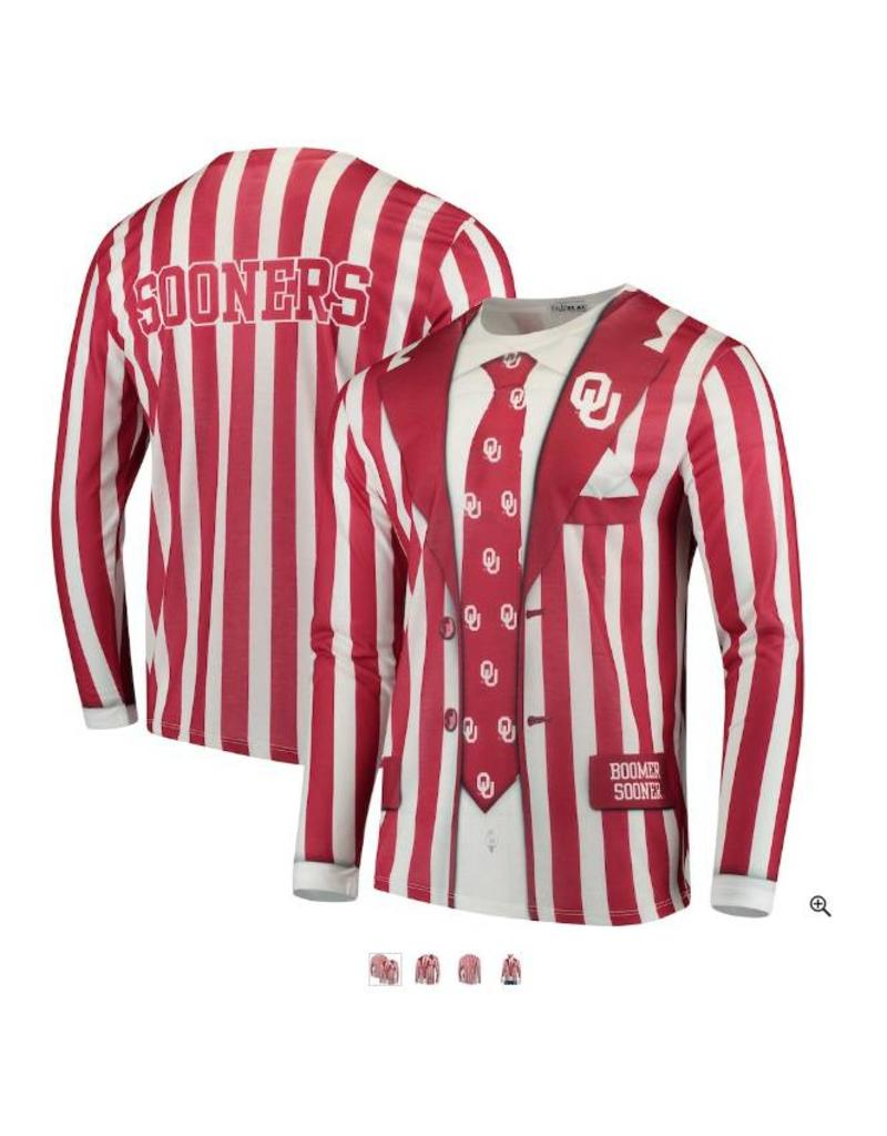 Faux Real Faux Real Oklahoma Sooners Striped Suit L/S Tee