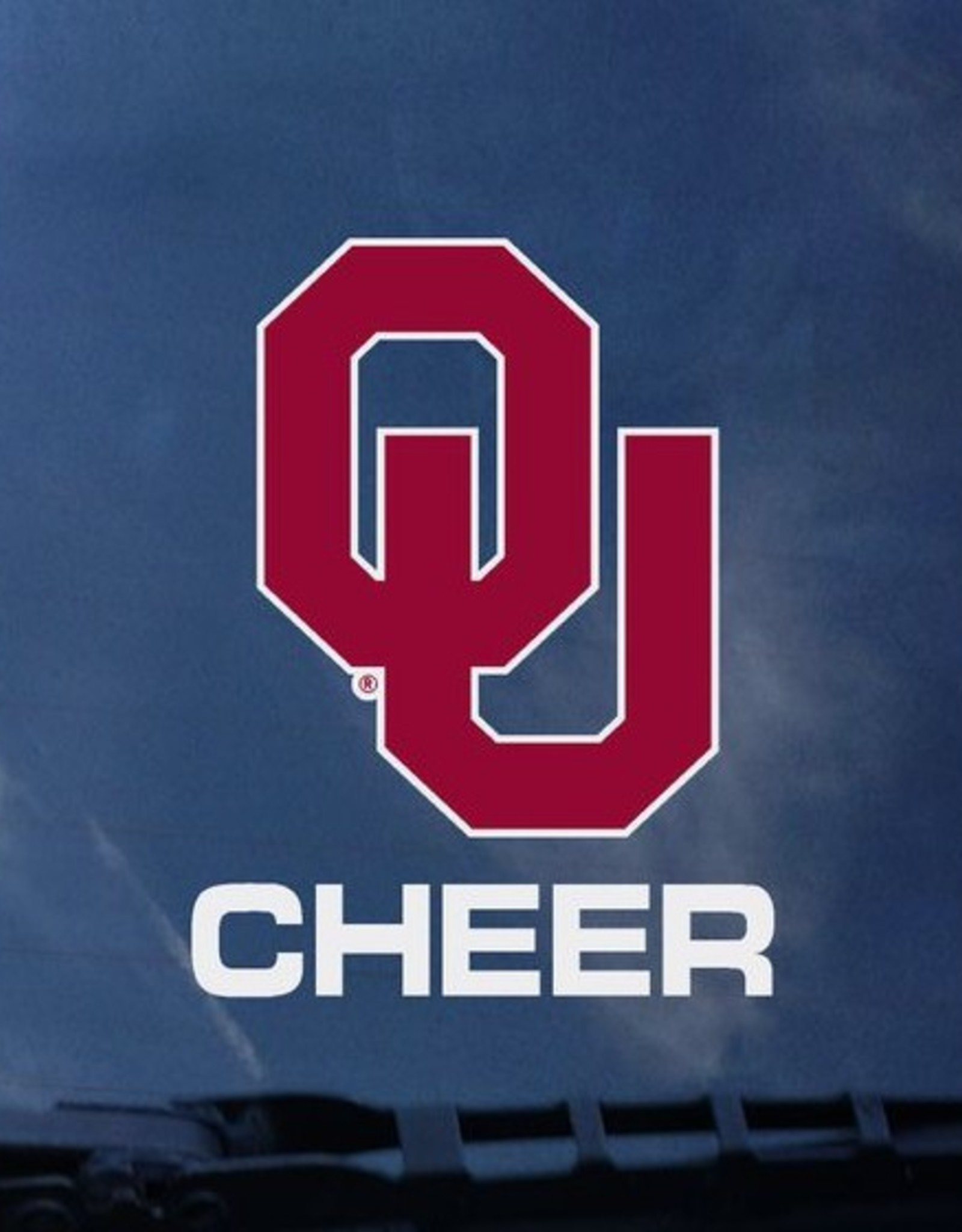 Color Shock OU Cheer Auto Decal