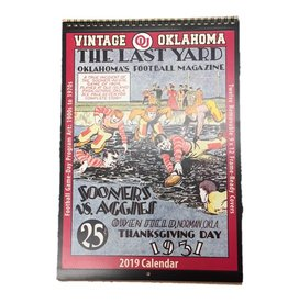 Asgard 2019 Vintage OU Football Calendar