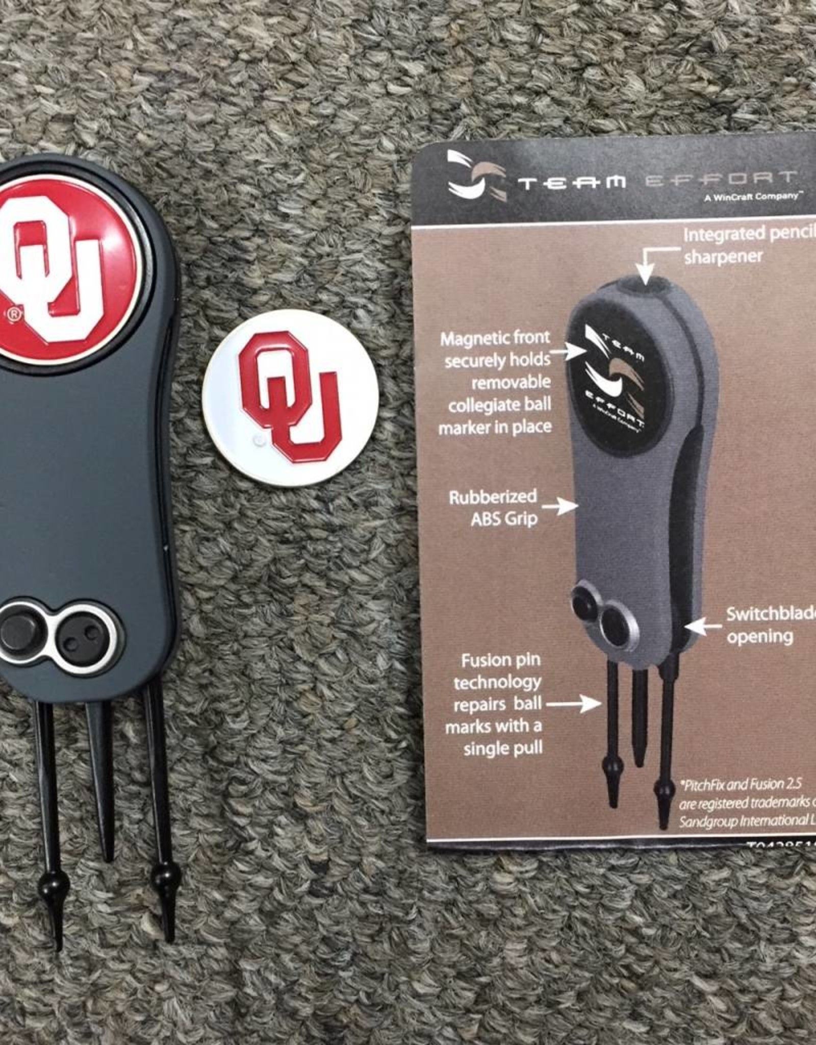 Team Effort OU Switchblade Divot Repair Tool/Ball Markers