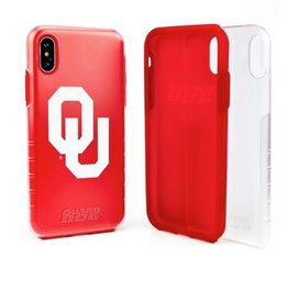 Guard Dog OU Guard Dog Clear/Crimson Hybrid Case w/ Guard Glass Screen Protector iPhone X/XS