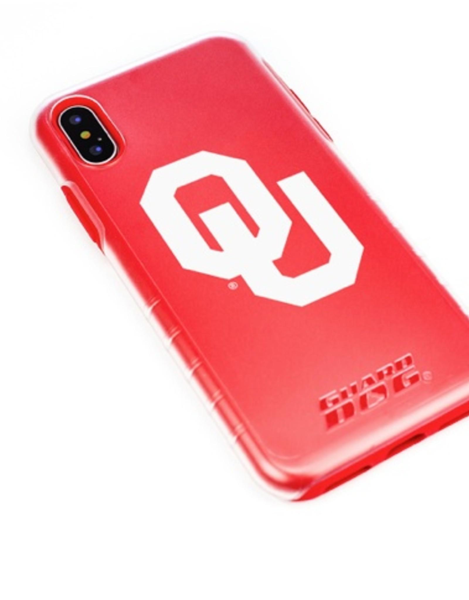 Guard Dog OU Guard Dog Clear/Crimson Hybrid Case w/ Guard Glass Screen Protector iPhone X/XS