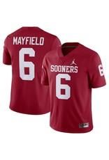 Jordan Jordan Brand Oklahoma Sooners #6 Mayfield Replica Game Jersey