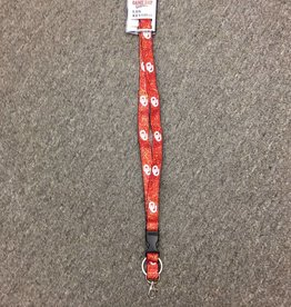 Game Day Glitter Lanyard Keyring OU