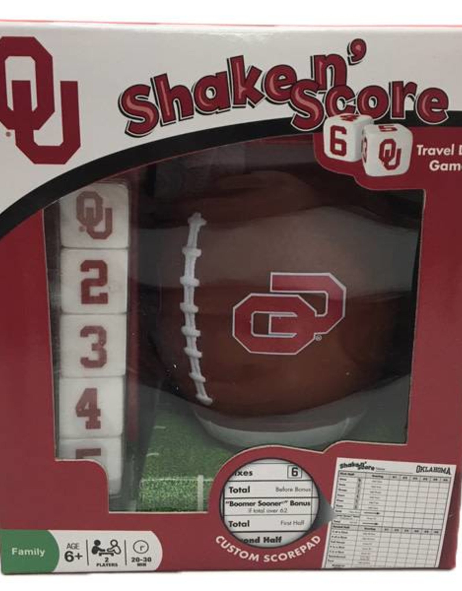 Masterpieces OU Shake n' Score Dice Game