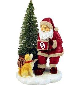 The Memory Company Oklahoma Santa with LED Tree