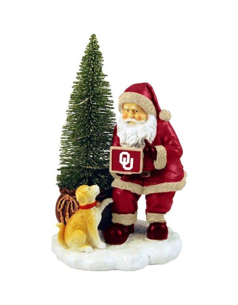 The Memory Company Oklahoma Santa with LED Tree