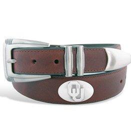 Zep-Pro Zep-Pro OU Concho Brown Ranger Style Belt