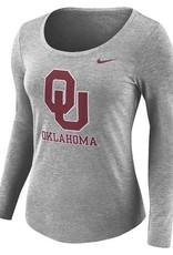 Nike Women's Nike Dark Grey LS Tee OU Oklahoma