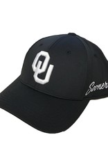 Top of the World TOW Phenom OU One Fit Black Cap