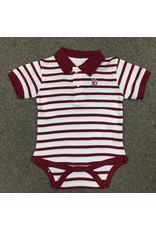 Two Feet Ahead Infant Two Feet Ahead Polo Stripe Creeper Snap Closure